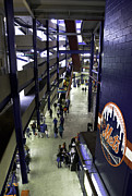 Shea Stadium Framed Prints - Shea Stadium Walkways Framed Print by Paul Plaine
