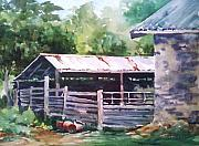 Winery Paintings - Shed-Barking Rock Winery by Tina Bohlman