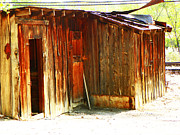 Abstract Expressionist Photo Metal Prints - Shed by the Tracks Metal Print by Lenore Senior