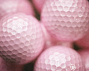 Golf Ball Posters - Shed Rather be Golfing Poster by Lisa Russo