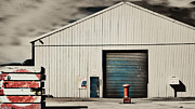 Shed Digital Art Metal Prints - Shed with bollard and pallets Metal Print by Harry Neelam