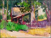 National Park Paintings - Sheds Near Camden House by Susan F Greaves