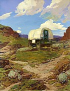 Ranchers Paintings - Sheep Wagon by Pg Reproductions