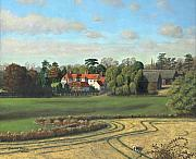 Harlow Painting Prints - Sheering Hall Near Harlow Essex Print by Richard Harpum