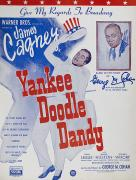 Yankee Doodle Dandy Framed Prints - Sheet Music Cover, 1942 Framed Print by Granger