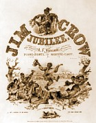 Stereotype Posters - Sheet Music Cover Titled, Jim Crow Poster by Everett