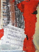 Distressed Mixed Media - Sheet Music by Gail Butters Cohen