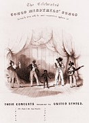 Slavery Photo Framed Prints - Sheet Music Of The Congo Minstrels, An Framed Print by Everett