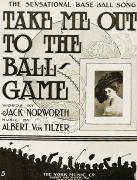 Ballgame Prints - Sheet Music: Take Me Out Print by Granger