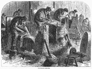 Knife Work Prints - Sheffield: Factory, 1866 Print by Granger