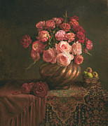 Roses Painting Posters - Sheherezade Poster by Lyndall Bass