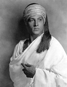 Turban Framed Prints - Sheik, Rudolph Valentino, 1921, Portrait Framed Print by Everett