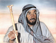 King Pastels Originals - Sheik Zayed by Nanybel Salazar