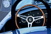 Ac Cobra Posters - Shelby AC Cobra Steering Wheel 2 Poster by Jill Reger