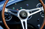 Ac Cobra Posters - Shelby AC Cobra Steering Wheel 3 Poster by Jill Reger