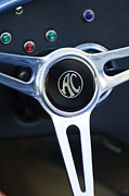Ac Cobra Posters - Shelby AC Cobra Steering Wheel 4 Poster by Jill Reger