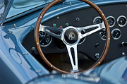 Ac Cobra Posters - Shelby AC Cobra Steering Wheel Poster by Jill Reger
