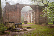 Colonial Building Framed Prints - Sheldon Church Ruins Framed Print by Bill Swindaman