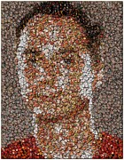 The Big Bang Prints - Sheldon Cooper Mosaic Print by Paul Van Scott