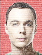 The Big Bang Prints - Sheldon Cooper Quotes Mosaic Print by Paul Van Scott