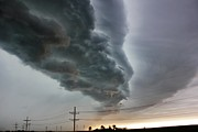 Wind Photos - Shelf Cloud by Bradley Hruza
