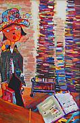 Library Painting Originals - Shelf Life by Anne Schreivogl