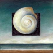 Seashell Painting Framed Prints - Shell 2 Framed Print by Katherine DuBose Fuerst