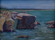 Shores Paintings - Shell Beach I Pelican Point by Ron Smothers