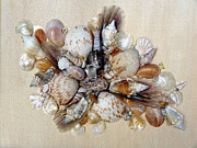 Caribbean Sea Mixed Media - Shell Bouquet No 1 by Karin Best