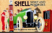Companies Posters - Shell Spirit Poster by Lyle Brown