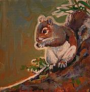 Michele Hollister - For Nancy Asbell Posters - Shelley the pet Squirrel Poster by Michele Hollister - for Nancy Asbell