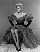 Puffed Sleeves Framed Prints - Shelley Winters, 1952 Framed Print by Everett