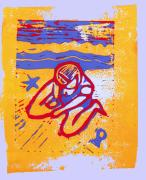 Lino Photo Prints - Shellie - Summer Experiment Print by Adam Kissel