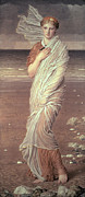 On Silk Paintings - Shells  by Albert Joseph Moore