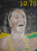 Mvp Mixed Media Prints - Shelly- Anns Victory Print by Rajwayne Neufville