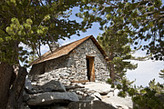 Mountain Cabin Prints - Shelter On The Peak Print by David Rische