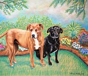 Shelter Rescued And Loved Print by Patricia L Davidson