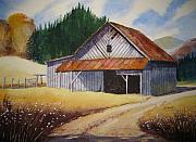 Building Painting Originals - Shelter by Shirley Braithwaite Hunt
