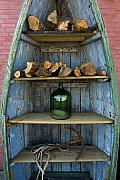 Firewood Posters - Shelved Boat Poster by Robert Lacy