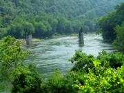 Harpers Ferry Photos - Shenandoah River View by Michael L Kimble