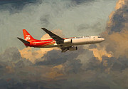 Airlines Digital Art - Shenzhen Airlines B739 on route by Nop Briex