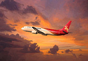 Airlines Digital Art - Shenzhen Airlines enroute by Nop Briex