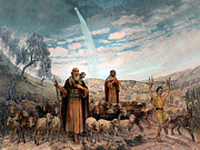 Bethlehem Drawings Prints - Shepherds Field Painting Print by Munir Alawi
