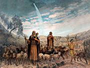 Munir Alawi - Shepherds Field Painting