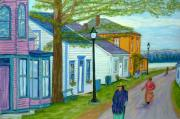 Street Scene Pastels - Sherbrooke Village by Rae  Smith PSC