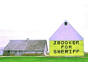 Illinois Barns Prints - Sheriff Booker and Take her away Print by Daniel Ness