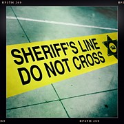 Nina Prommer Prints - Sheriffs Line - Do Not Cross Print by Nina Prommer