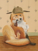 Fox Pastels Prints - Sherlock Fox Print by Teresa LeClerc