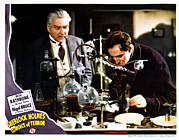 Lobbycard Framed Prints - Sherlock Holmes And The Voice Of Framed Print by Everett