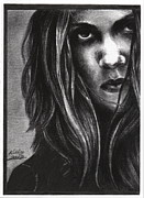 Famous People Drawings - Sheryl Crow by Kathleen Kelly Thompson